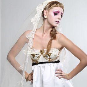 OOAK VICTORIAN ROMANTIC Bustier PARTY Dress
